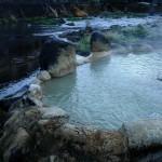長湯温泉「がに湯」芹川の中にある露天風