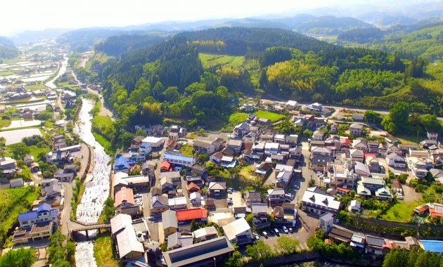 長湯温泉 熊本地震後のドローン空撮 20160520