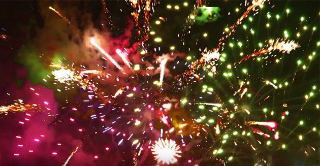 直入町商店街ふるさとふれあい夜市「花火大会」の動画