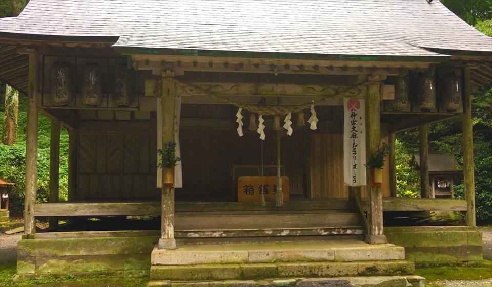 籾山八幡社「直入物部神社」と樹齢千年の神木