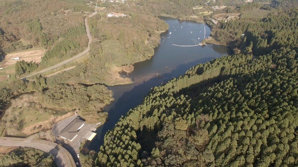 長湯ダム湖周辺 ドローン空撮(4K) Drone video in and around Nagayu dam lake