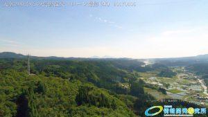 天空の杜からの長湯温泉 阿蘇山 県道30号線 ドローン撮影 (4K) 写真 Vol.9