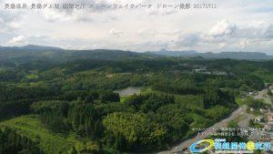 深緑が覆う美しい長湯ダム湖 散策スポット 長湯温泉 ドローン撮影(4K)写真 Vol.15 20170711