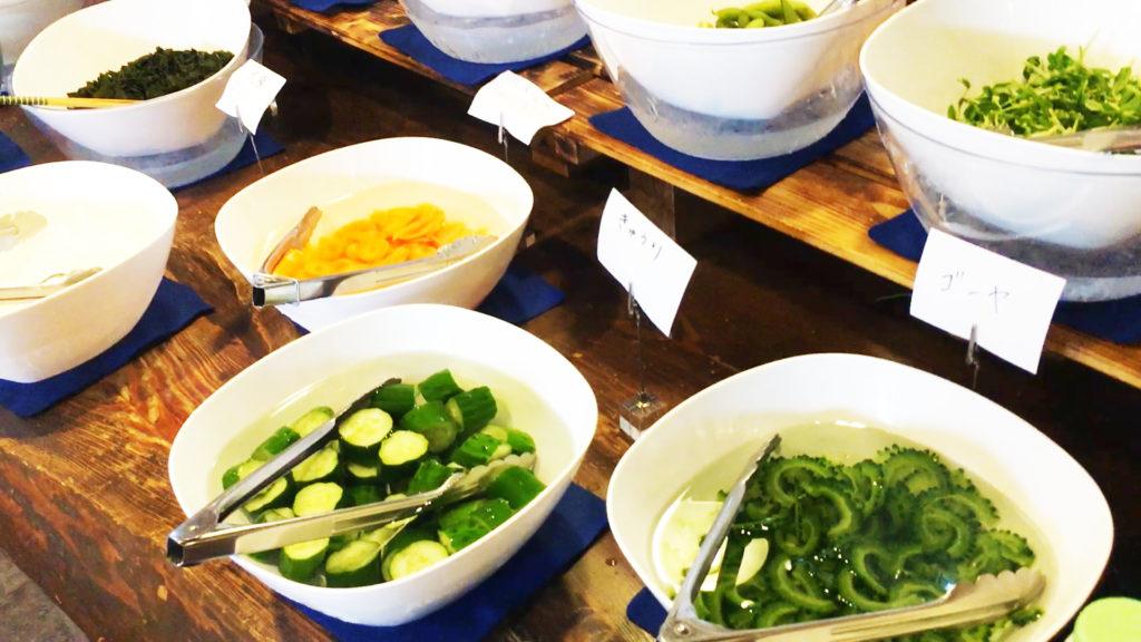 新鮮地元野菜のサラダバー