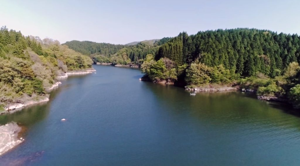 GW人気の釣りスポット 芹川ダム公園 ドローン映像 4K 2018年4月 Drone video in Serikawa dam